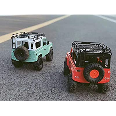 Mintu ,4WD 2.4Ghz Remote Control Truck MN-90 with LED Light 1:12 Scale Radio Conrtolled Off-Road RC Car Electronic Monster Truck R/C RTR Hobby Cross-Country Car Buggy (Red): Toys & Games