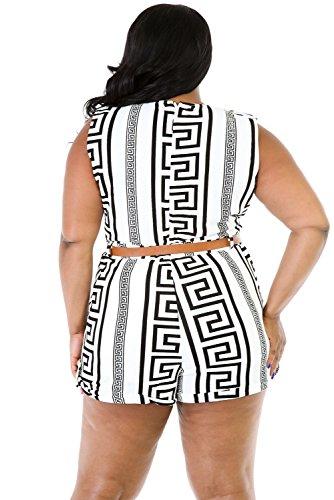 Neue Damen Plus Größe Schwarz & Weiß Strampler Jumpsuit Spielanzug Body Strampler Club Wear Kleidung Größe XXXL UK 16EU 44