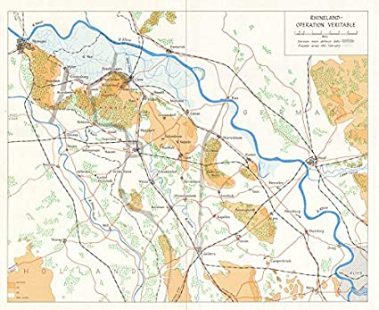 Map Of Germany Rhineland.Amazon Com Rhineland Operation Veritable 1945 Battle Of Reichswald