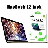 LENTION Pellicola Protettiva Rinforzata Anti-Graffio per MacBook Retina 12 pollici 2015/2016/2017 USB-C, Protezione Schermo HD per Portatile Apple, Durezza 4H, Facile da Installare