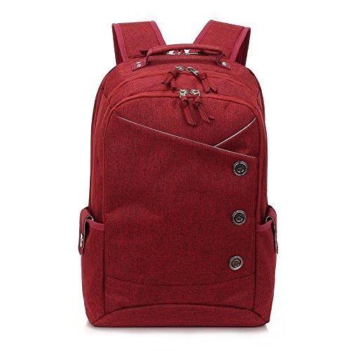 Kingslong 15.6 Inch Laptop Backpack Durable Linen Large Capa