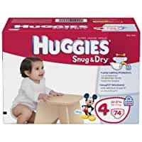 Huggies Snug and Dry Diapers, Size 4, Big Pack, 74 Count