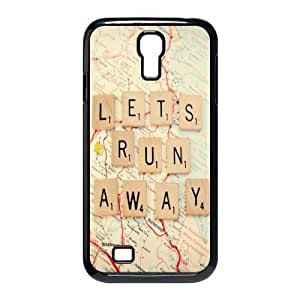 luckhappy store Custom Let's Run Away black plastic Case for SamSung Galaxy S4 I9500 cover