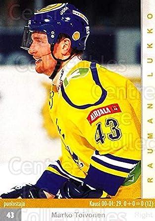 Amazon.com: (CI) Marko Toivonen Hockey Card 2001-02 Finnish ...