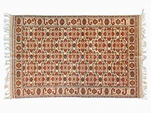 Pure Natural Wool Turkmen Elite Handmade Carpet (1.9m X 2.95m)