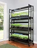 LED Grow Light Stand, Heavy Duty 3-Tier with Plant Trays