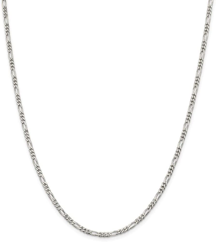 925 Sterling Silver Figaro Columbus Mall Chain Jewelry for Wome Gifts New life Necklace