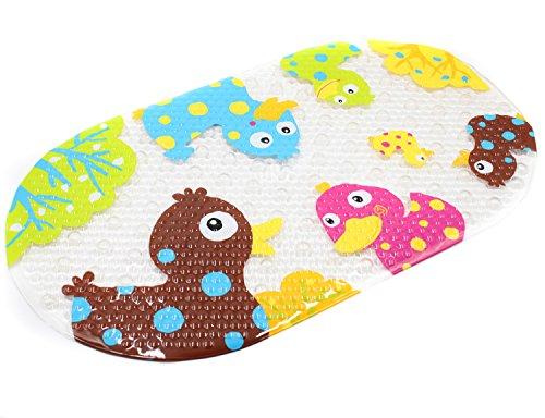 Wanneneinlage Anti-Rutsch Badematte BliGli PVC Karikatur Entwurf Massage Badematte mit Saugnäpfen für Baby Kinder (Colour Duck)
