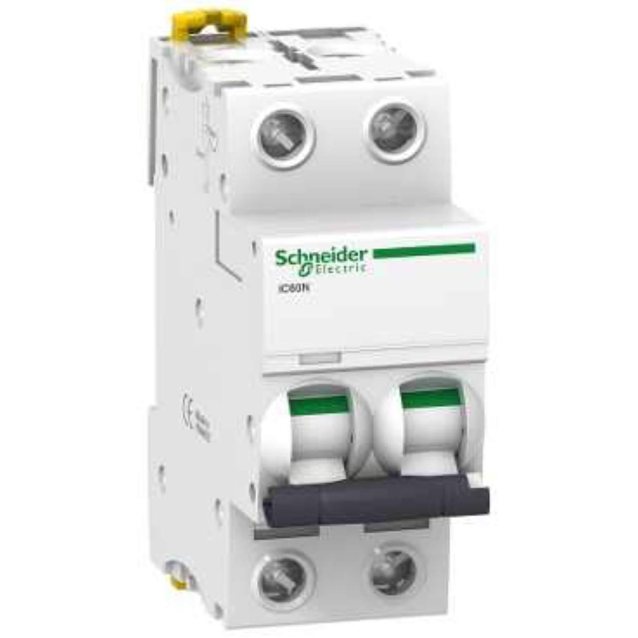Blanc 10/A Courant 85/mm hauteur x 36/mm largeur x 78.5/mm profondeur 50//60/Hz acti9 Courbure D Schneider electric a9/F75210/iC60/N disjoncteur 2p