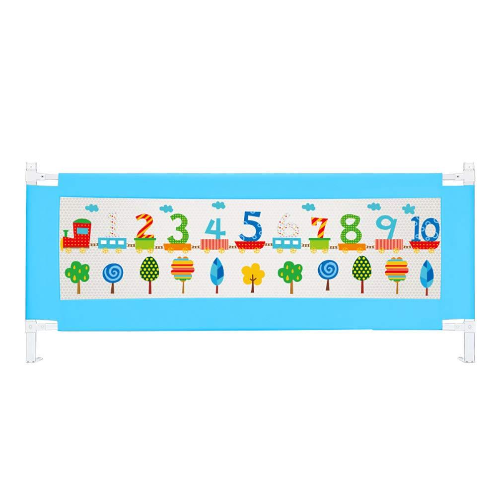 ベッドフェンス 赤ちゃんのための青いベッドレール、幼児の赤ちゃんと子供のためのポータブル折りたたみベッドレール安全保護ガード (サイズ さいず : Length 180cm) Length 180cm  B07JLM6WTB