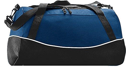 Augusta Sportswear Tri-color Sport Bag OS Navy/Black/White by Augusta Sportswear