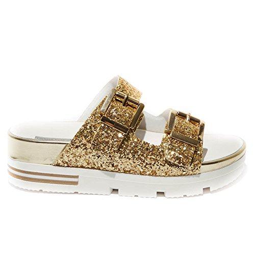 Tosca Blu - Sandalias de vestir para mujer dorado Onice