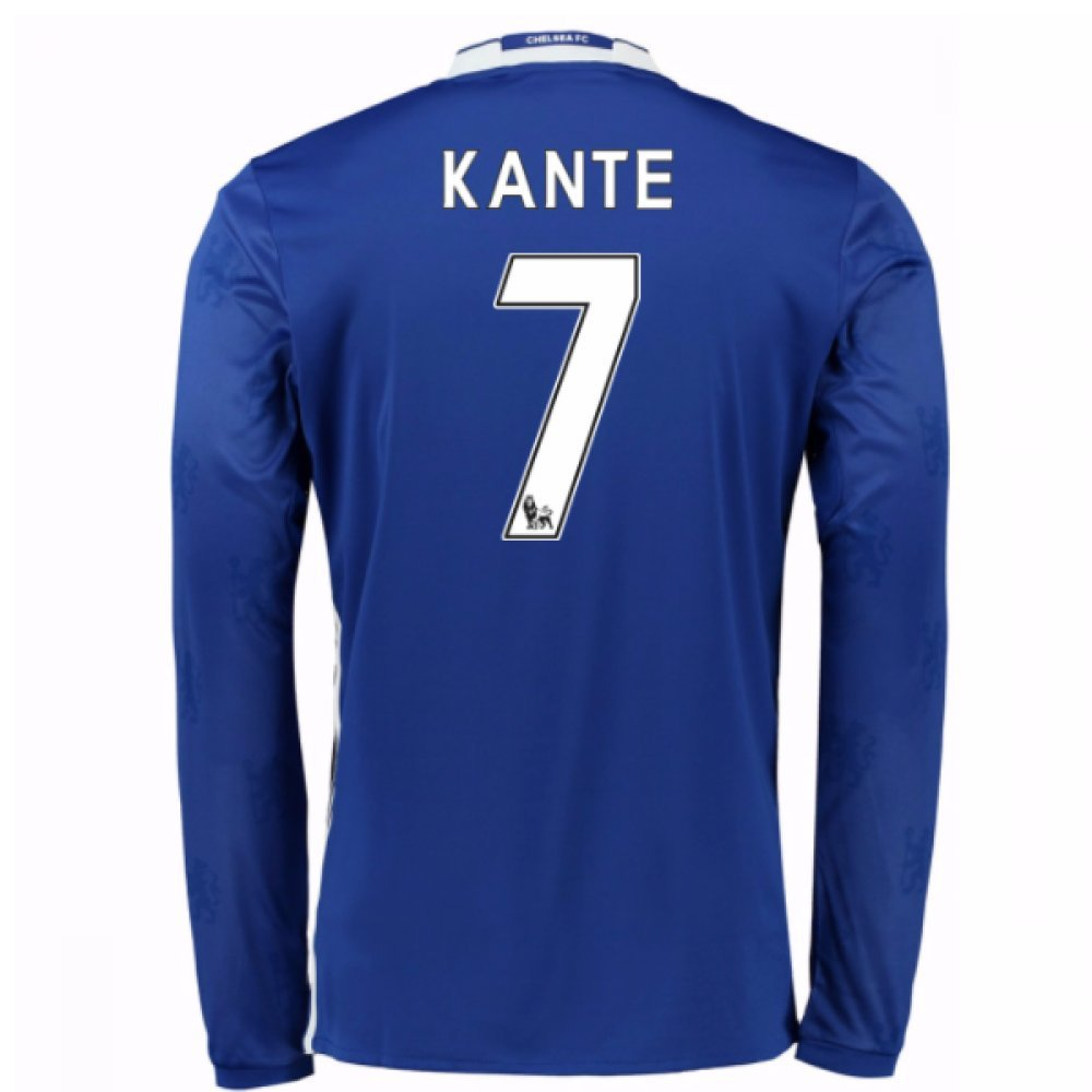 2016-17 Chelsea Home Long Sleeve Shirt (Kante 7) Kids B077Z7QPJCBlue Medium Boys 28-30\