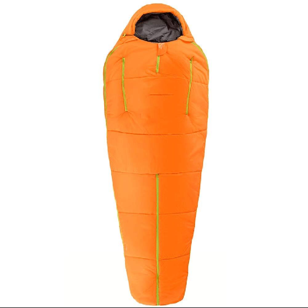 WLIXZ Saco De Dormir Humanoide, Ultra Ligero Almuerzo Almuerzo Camping Tripping Montañismo Cálido Solo Adulto Al Aire Libre A Prueba De Viento,Orange,210 ...