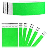 Goldistock Original Series - 3/4'' Tyvek Wristbands Super Value Pack Vivid Neon Green 8,000 Count - Event Identification Bands (Paper - Like Texture)