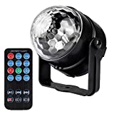 #4: LED Party Light,Airsspu 7 Color Sound Activated Disco Ball Lights Strobe Club lights Effect Magic Mini Led Stage Lights For Christmas Home KTV Xmas Wedding Show Pub