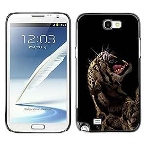 LECELL -- Funda protectora / Cubierta / Piel For Samsung Galaxy Note 2 N7100 -- Cool Rawr Roar Leopard Animal Fierce --