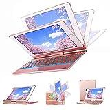 Keyboard Case 9.7 for New iPad 2018(6th)-iPad 2017(5th)-iPad Pro 9.7-iPad Air2-iPad Air 1 - KIPIDA 360 Degree Rotation - 7 Color Backlit - Wireless Bluetooth - iPad Case with Keyboard (9.7 Rose Gold)