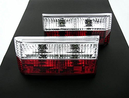 Euro E-Code Red Crystal Clear Tail Lights Rear Lamp For VW Rabbit Golf MK1 1 Cabrio