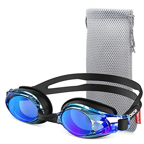 ZIONOR Upgrade G8 Swim Goggles for Men/Women, UV Protection Anti-Fog Leak-Proof Swimming Goggles with Adjustable Strap Wide Vision, Comfortable and Fashionable for Adult and Youth