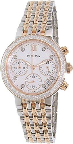 Bulova Two-Tone Rose Gold Diamond Watch