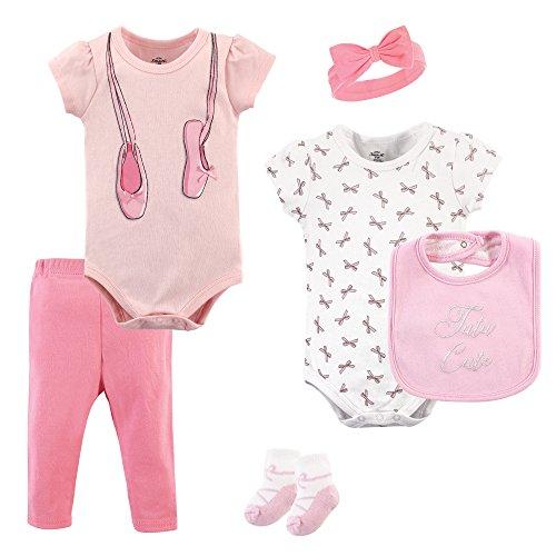 Hudson Baby Unisex Baby Clothing, Ballerina 6-Piece Set, 0-3 Months (3M) (Baby Ballerina)