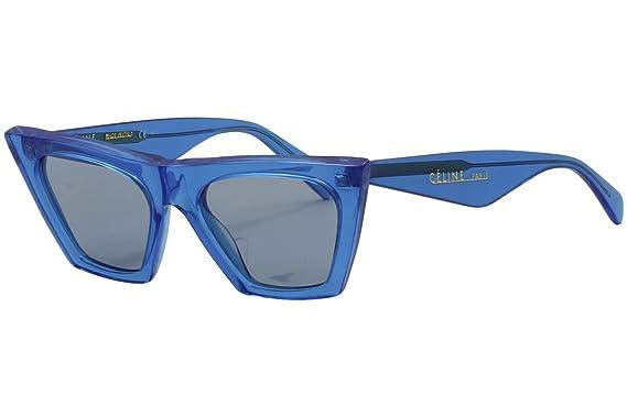 c0e3bff53a3f Amazon.com  Celine CL41468 S GEG Blue CL41468 S Cats Eyes Sunglasses ...