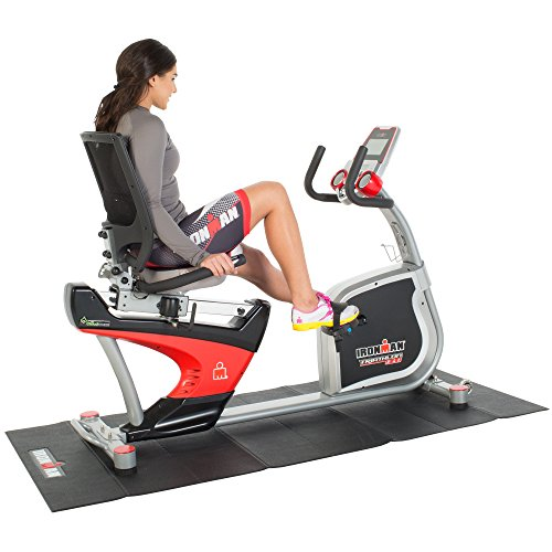 IRONMAN Triathlon X-Class 410 Smart Technology Recumbent Bike with Bluetooth, Air Soft Seat and Adjustable Backrest