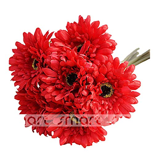 10 PCS Artificial Silk African Chrysanthemum Plant Flower Bouquet Big Daisy Chrysanthemum Sunflowers Wedding Party Decor Home 12