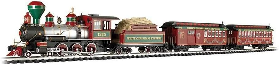 Amazon Com Bachmann White Christmas Express Ready To Run Electric Train Set Large G Scale Toys Games