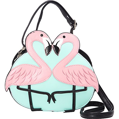 Black Crossbody Bag Love Pink Flamingo Shoulder SzqwZx1Ax