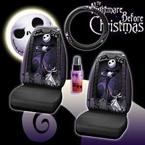 Amazon.com: New 4 Pieces Disney Nightmare Before Christmas Jack Skellington Graveyard Car Auto