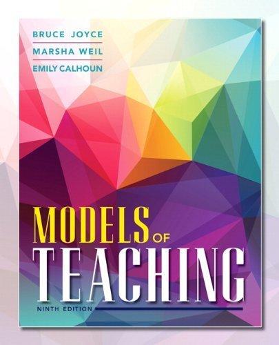 Models of Teaching (9th Edition) by Bruce R. Joyce (2014-04-14)