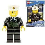 LEGO Kids' 9002274 Classic Policeman Mini-Figure Alarm Clock