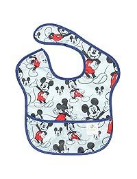 Bumkins Disney Baby Waterproof SuperBib, Mickey Classic, (6-24 Months)