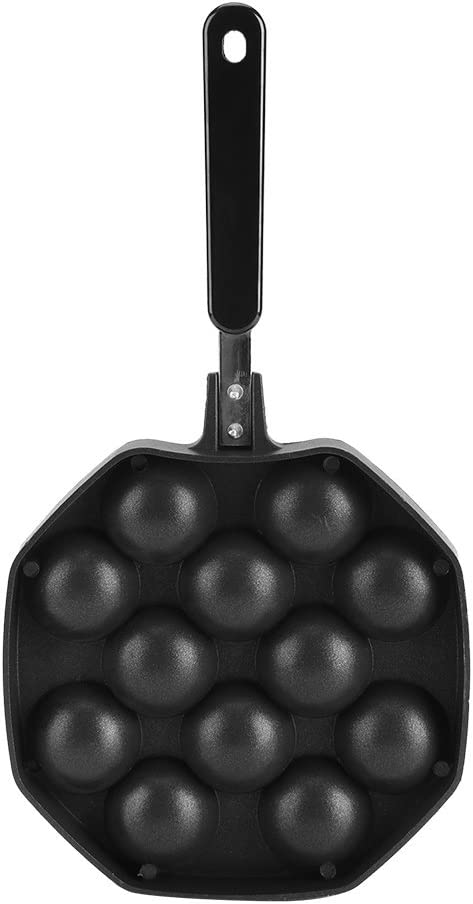 Non Stick Takoyaki Pan 12 Holes Takoyaki Maker Aluminum Gas Stove Grill Pan Octopus Ball Mold Pancake Maker with Handle