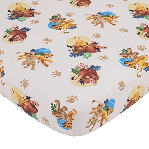 Disney Lion King - Totally Tribal - 4Piece Toddler Bed Set - Coral Fleece Toddler Blanket, Fitted Bottom Sheet, Flat Top Sheet, Standard Size Pillowcase, Blue, Green, Brown, Brown Gold