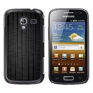 Be Good Phone Accessory // Dura Cáscara cubierta Protectora Caso Carcasa Funda de Protección para Samsung Galaxy Ace 2 I8160 Ace II X S7560M // Black Lines