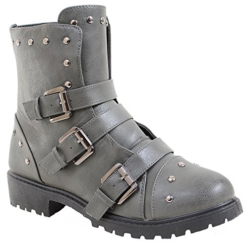 4everfunky-Moto-Harness-Rivets-Combat-Lug-Ankle-Womens-Vegan-Boots