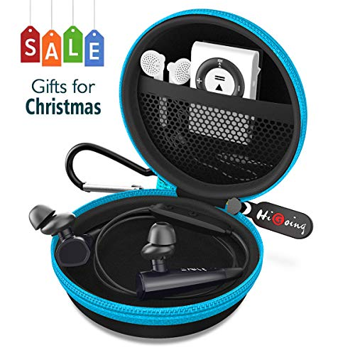 Headphone Cases, Portable Protection EVA Hard Earpieces Case_Blue