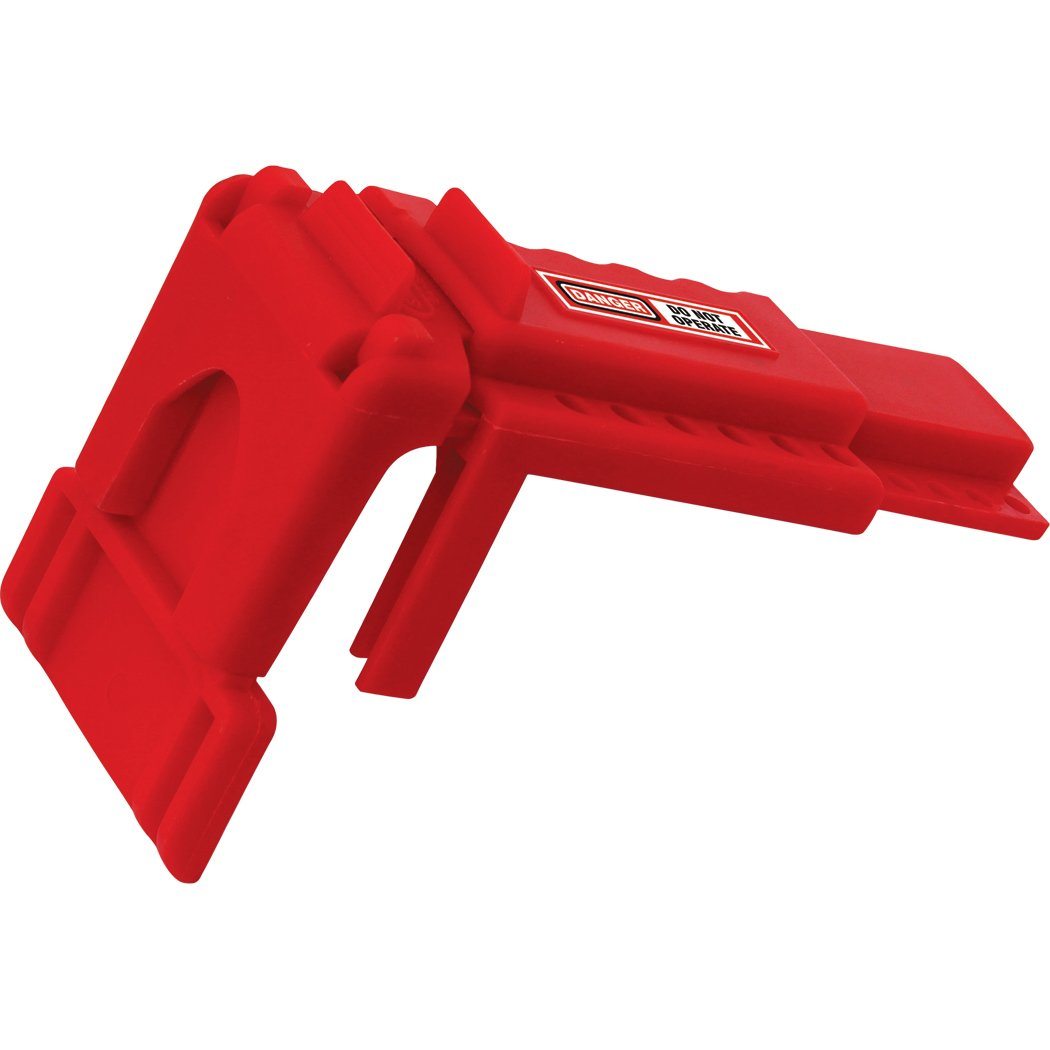 Lockout Safety Supply 7249 Ball Valve Lockout, 3/8'' - 1.4'' Diameter, Red