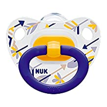 NUK Baby Pacifier 0-6 M Silicone Yellow Blue Newborn Boy 4456-12