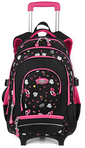 Rolling Backpack for Girls, COOFIT Backpack with