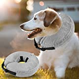 Airsspu Dog Cone Collar Soft - Soft Pet Recovery E-Collar Cone for Small Medium Large Dogs, Designed to Prevent Pets from Touching Stitches