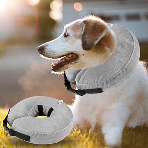 Airsspu Dog Cone Collar Soft - Soft Pet Recovery E-Collar Cone for Small Medium Large Dogs, Designed to Prevent Pets from Touching Stitches by Airsspu