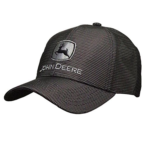 John Deere Gray and Black Reflective Hat