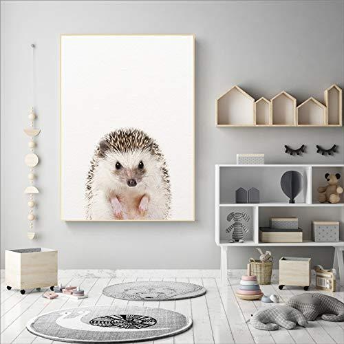 Geiqianjiumai Bosque Animal Arte Carteles e Impresiones Pintura de ...