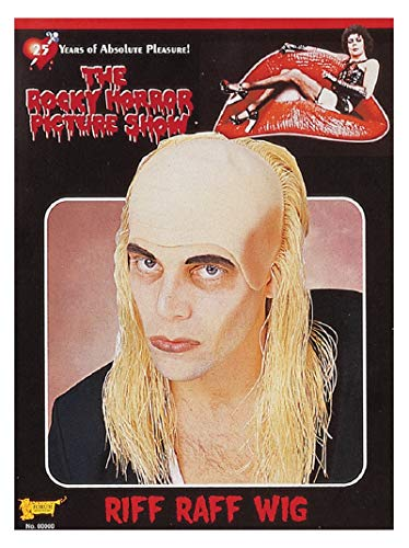 UHC Mens Riff Raff Rocky Horror Show Adult Halloween Costume Wig Accessory ()