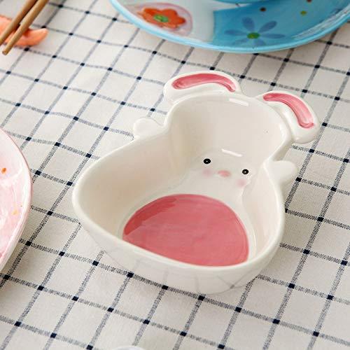 B NYDZDM Cute Pet Dog Feeder Ceramic Bowl Puppy Feeding Feed Food Bowl for Cat Health Dish Cup Drinking Drinker (color   B)