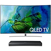 Samsung QN75Q8C 75 Curved 4K UHD HDR QLED Smart TV with UBD-M9500 4K Ultra HD Blu-ray Player